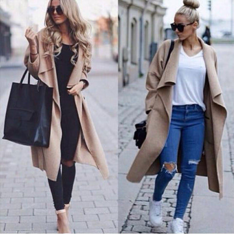 LOOSE LONG-SLEEVED CARDIGAN JACKET