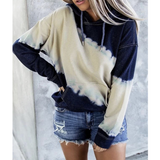 Printing Loose Long-Sleeved Hooded Sweater