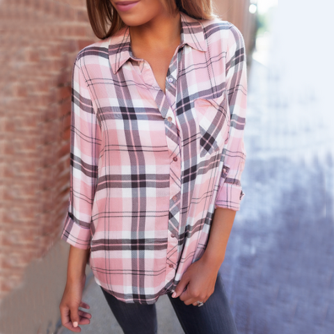 Fashion Plaid Long Sleeve Shirt