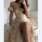 Fashion Floral Puff Sleeve Dress