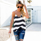 Sexy Striped Sling Design Top