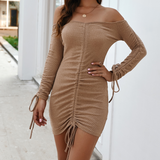 Sexy Package Hip Long-Sleeved Dress