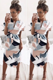 Sexy V-Neck Printed Dresses