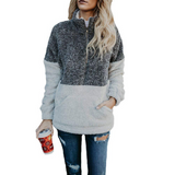 Zipper Pocket Sweater Long Sleeve Sweater