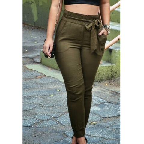 Leisure high waist Long pants