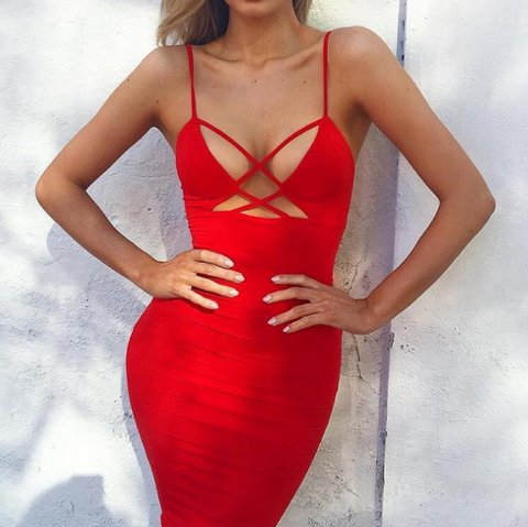 Fashion Sexy Sling Sleeveless Backless Dress