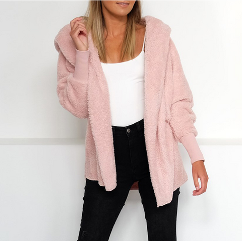 Fashion Long Sleeve Cardigan Hooded Jacket
