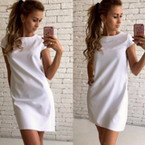 Fashion Short-Sleeved Round Neck Loose Dress