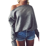 Casual Long Sleeve V-Neck Knit Sweater