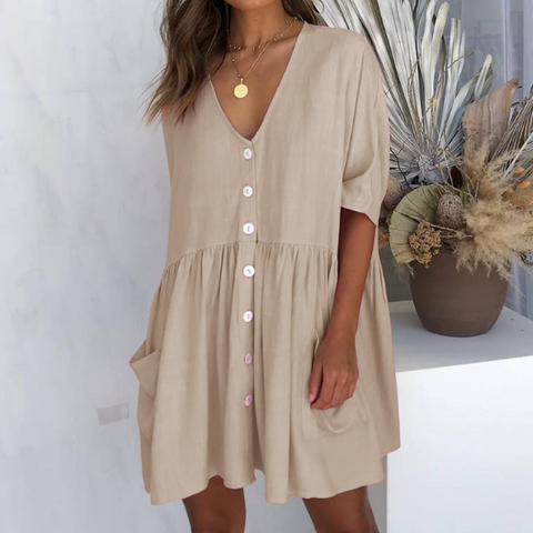 Fashion Short Sleeve Casual Summer Dresses