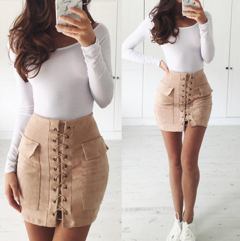 Solid color package hip skirts