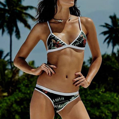 Fashion printing Bikini Swimsuit Swimwear