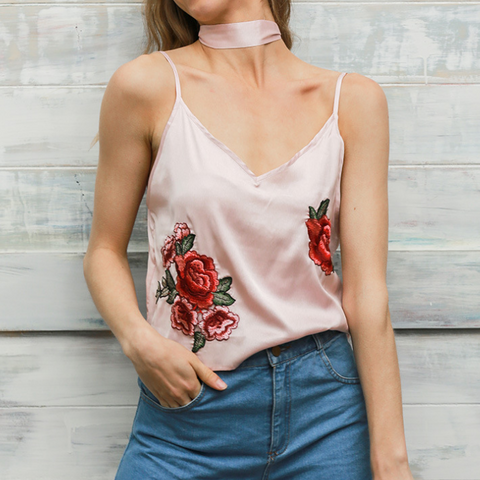 Sling Embroidery Vest T-Shirt