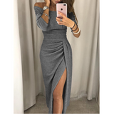 Fashion High Waist Long Sleeve Bag Hip Dress