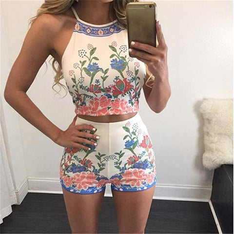 Sexy Printing Two-piece shorts