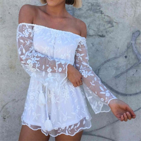 Fashion White Lace Jumpsuit Is Osps