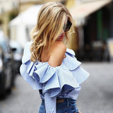 Fashion Striped Long-Sleeved Shirt