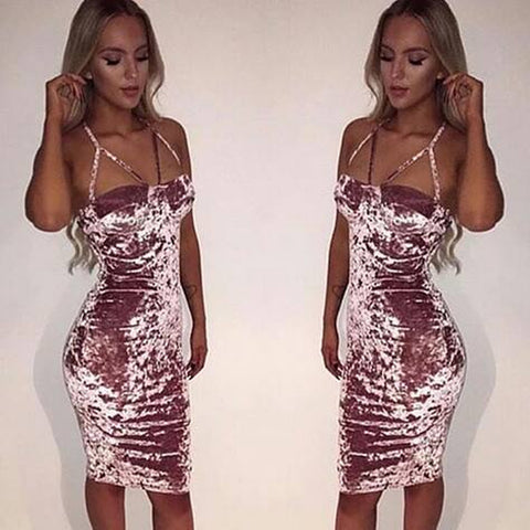 Fashion sexy Sling package hip dress