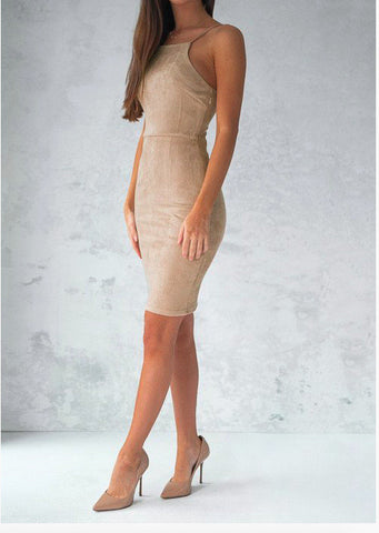 Design Sleeveless Package Hip Dress