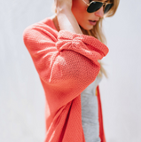 Fashion Solid Color Knitted Sweater Coat