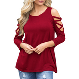 Women'S Round Neck Long Sleeve T-Shirt