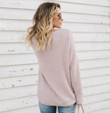 Women'S Loose Large Size Knit Sweater