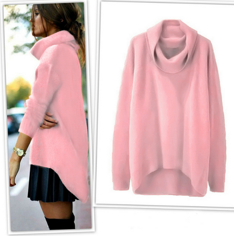 Irregular Fashion High-Necked Sweater