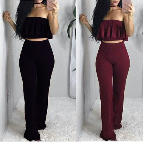 Women'S Sexy Sleeveless Two-Piece Jumpsuit