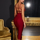 Backless High Waist Zipper Two Piece Set Dress