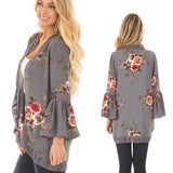 Long-Sleeved Printing Cardigan Shirt