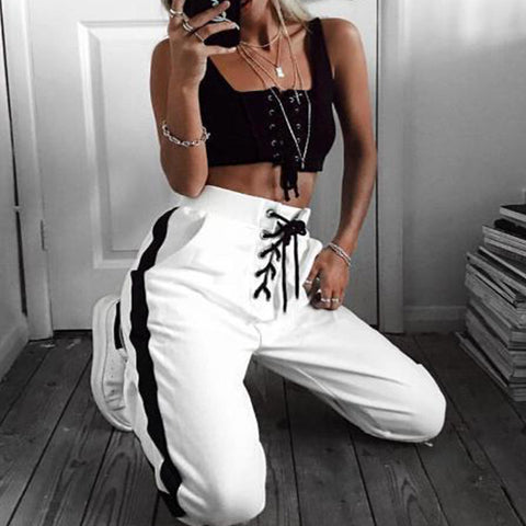 Fashion Striped Sweatpants