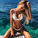 2018 Sexy Embroidered Bikini Swimsuit