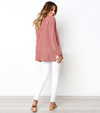 Loose V-Neck Long Sleeves Knitted Sweaters