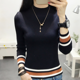 HIGH-NECKED LONG-SLEEVED KNIT SWEATER TOP