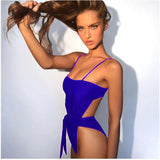 Solid Color Sexy Bikini One Piece Swimwear