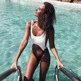 2018 Sexy Solid Color Bikini One Piece Swimwear