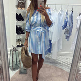 Striped Casual Sexy Dress