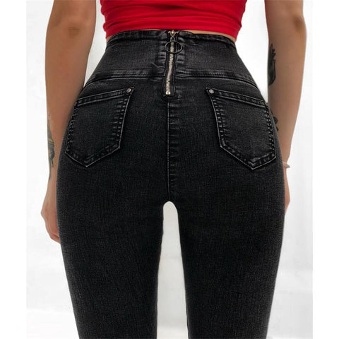 Sexy Women's Zipper Denim Pants