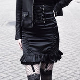 Black Lace High Waist Package Hip Skirts