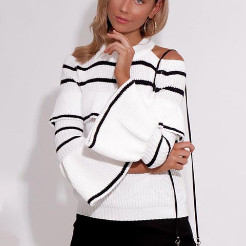 Fashion Sexy Striped Long Sleeve Sweater