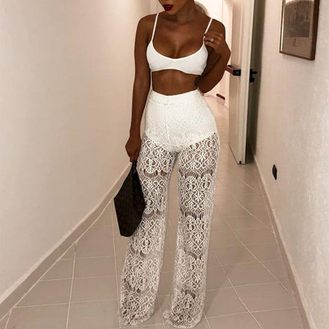 Sexy High Waist Lace Pants