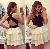 Cross Back Tiered Dress