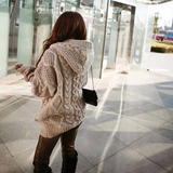 Fashion Loose Knit Cardigan Sweater Jacket