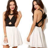 Sexy V-Neck Sleeveless Bow Princess Dress