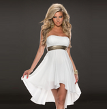 Design Sequined Chiffon Halter Dress