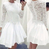 Beautiful Long Sleeve Lace Princess Dress