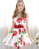 Sweet Slim Sleeveless Red Princess Dress