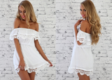 Fashion Sexy Lace Short Sleeve Dress