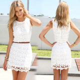 Sexy Package Hip Lace Vest Dress
