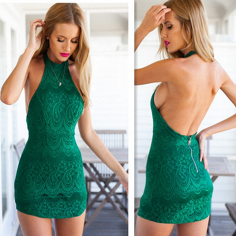 Design Sexy Lace Sleeveless Dress